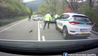 Kadr z filmu policji