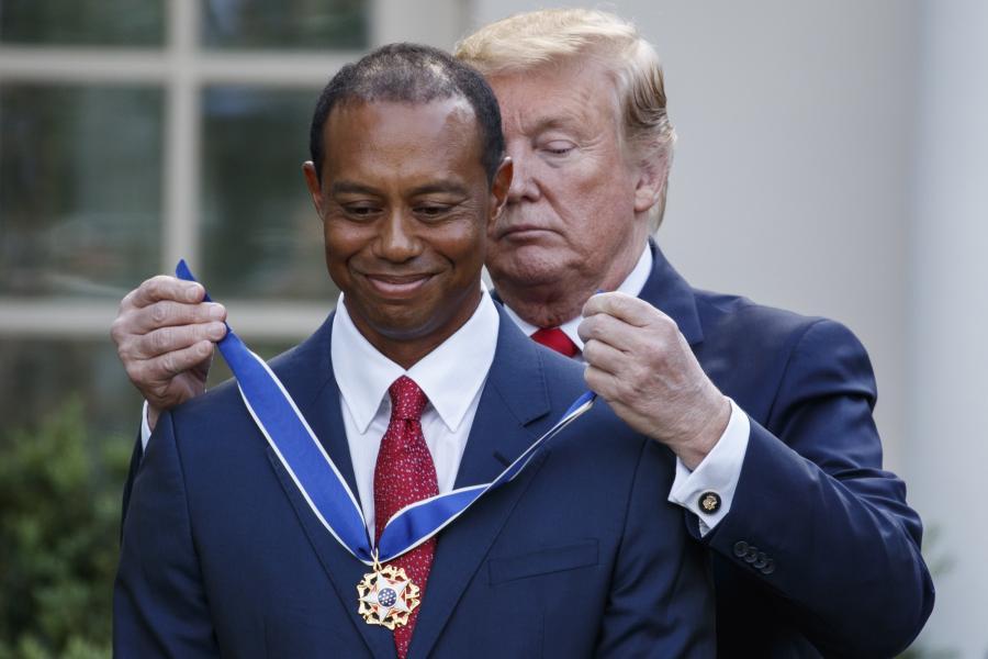 Donald Trump i Tiger Woods