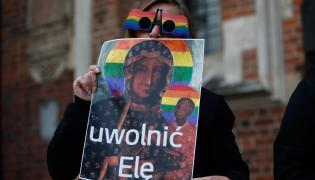 Protest w obronie Elżbiety Podleśnej