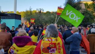 Zwolennicy partii VOX w Hiszpanii