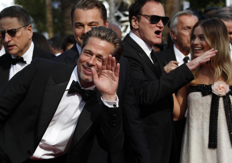 Brad Pitt i Quentin Tarantino na premierze \