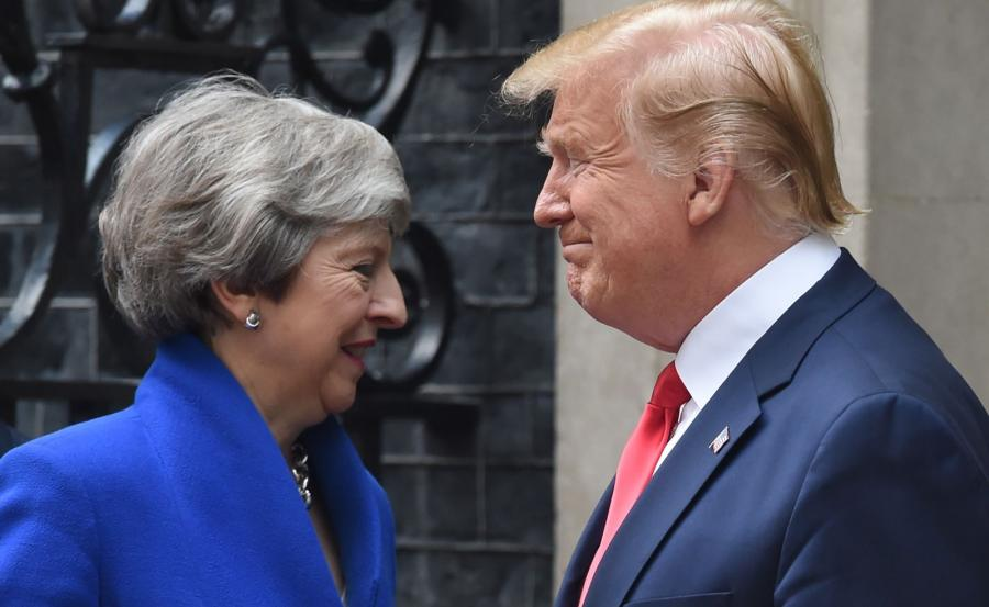 Theresa May i Donald Trump