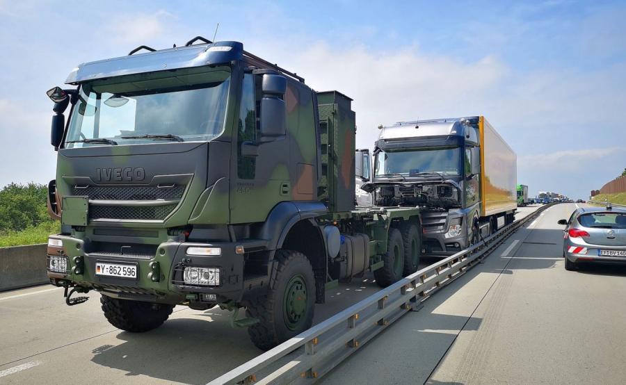 wypadek policja niemiecka zatrzymała rozpędzoną ciężarówkę