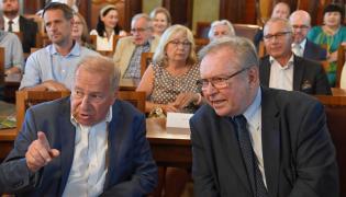 Jerzy Stuhr na 80. urodzinach Krzysztofa Zanussiego