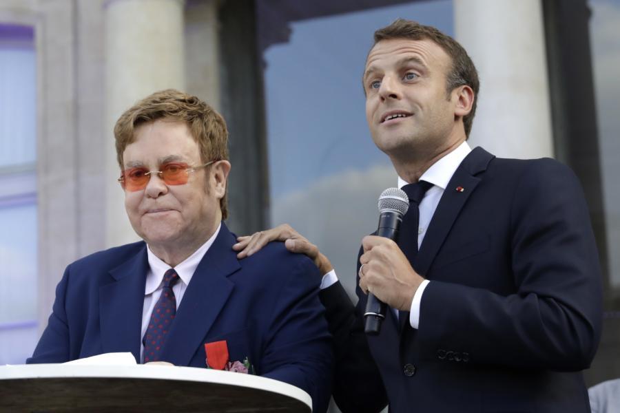 Emmanuel Macron i Elton John