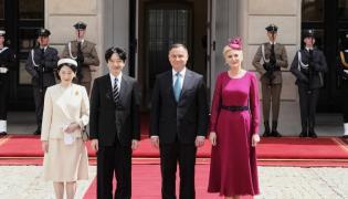Para książęca Japonii i Andrzej Duda oraz Agata Kornhauser-Duda