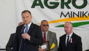 Prezydent Andrzej Duda podczas inauguracji Międzynarodowych Targów Rolno-Przemysłowych Agro-Tech w Minikowie