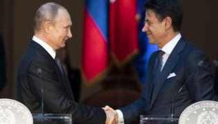 Władimir Putin i Giuseppe Conte