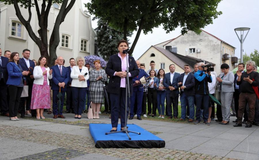 Bęata Szydło w Węgrowie