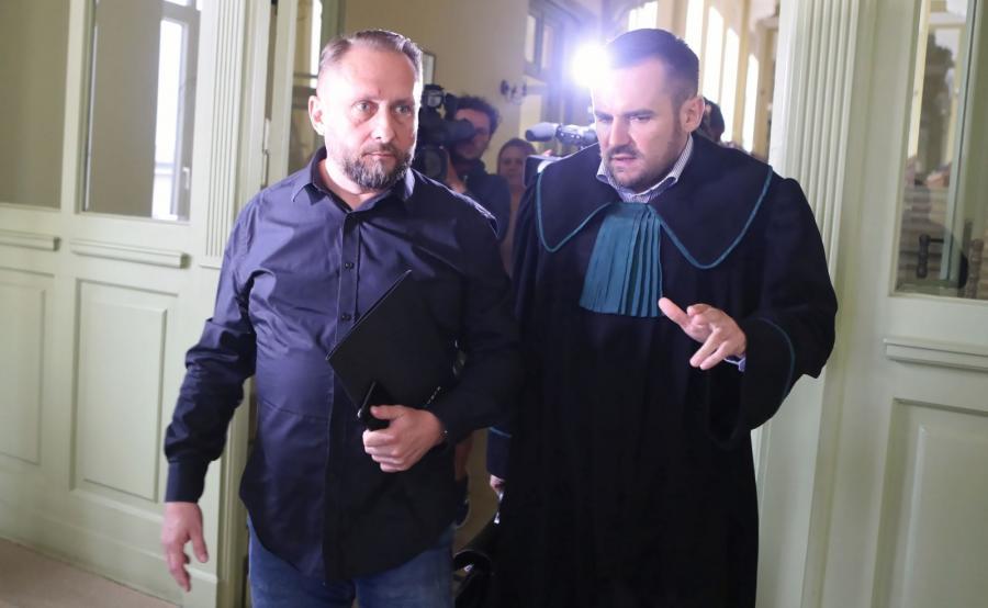 Kamil Durczok i mecenas Łukasz Isenko