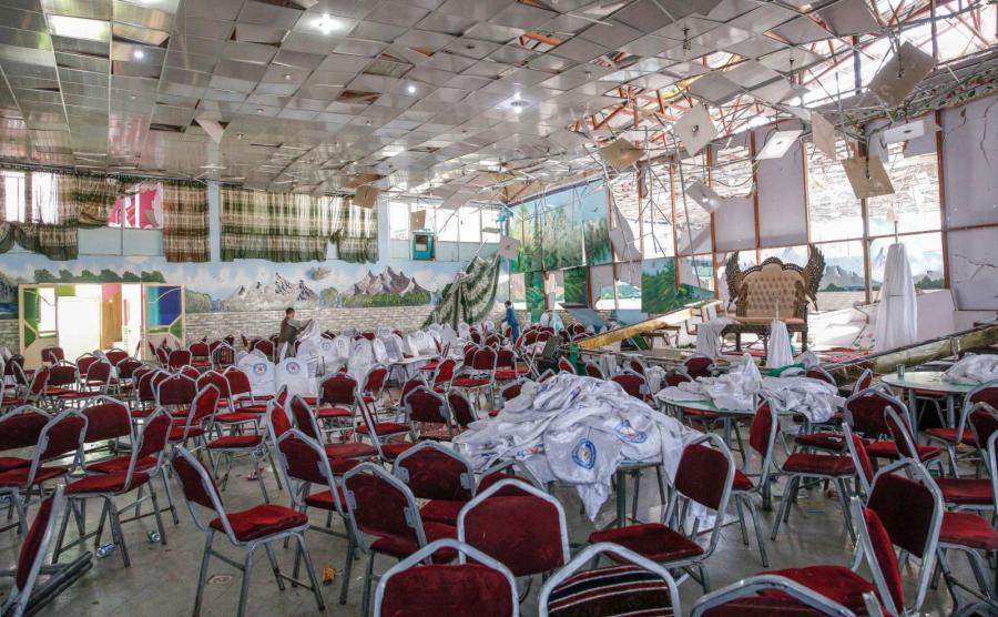 Sala weselna w Kabulu po zamachu