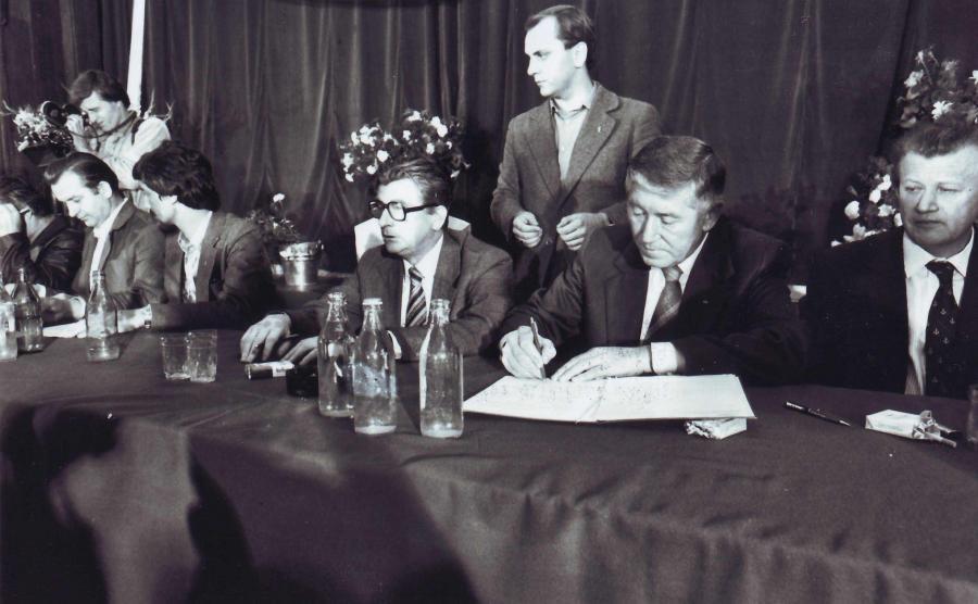 Podpisanie porozumień sierpniowych w Szczecinie / Stefan Cieślak - archiwum autora / CC BY 3.0