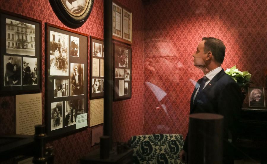 Prezydent RP Andrzej Duda zwiedza Muzeum Polskie w Rapperswilu