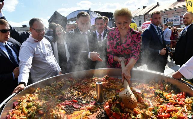Prezydent Andrzej Duda i pierwsza dama