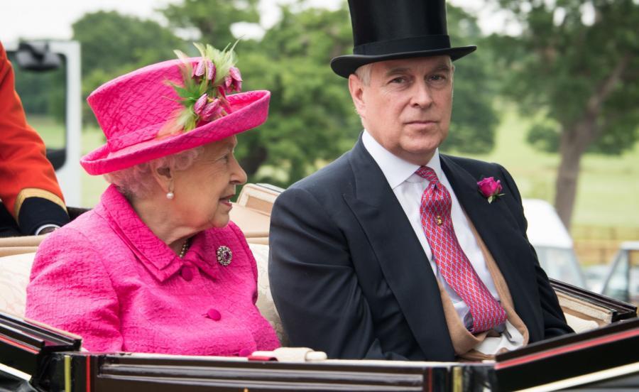 Królowa Elżbieta i książę Andrzej