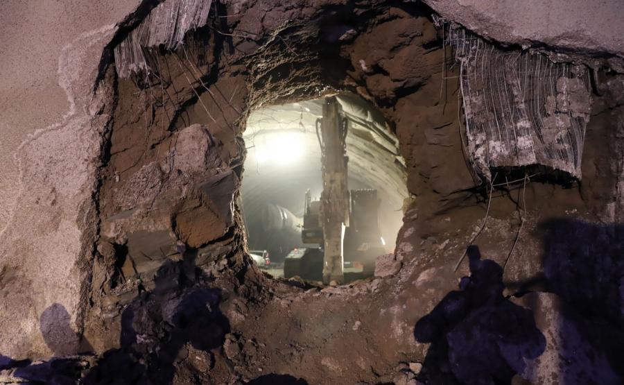 Prace na budowie tunelu na Zakopiance