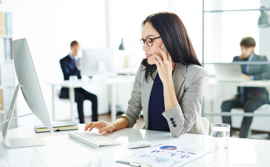 Kobieta, biuro, praca