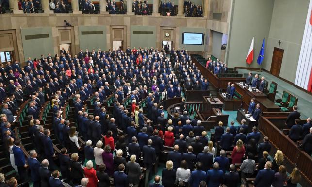 Pierwsze posiedzenie Sejmu [GALERIA]