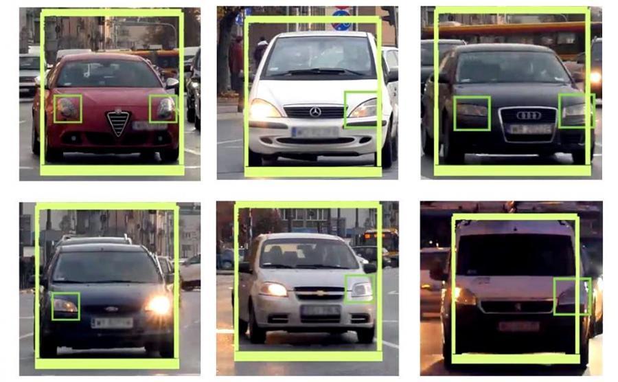 Namierzone auta z defektami oświetlenia
