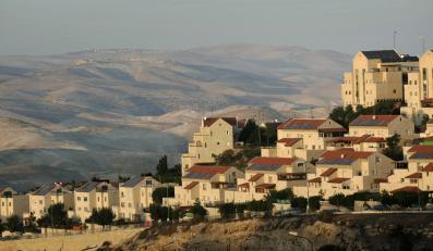 Izraelskie osiedle Maaleh Adumim na Zachodnim Brzegu.