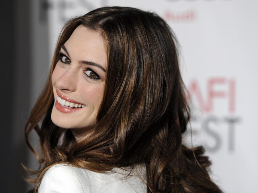 Anne Hathaway na premierze swego najnowszego filmu \