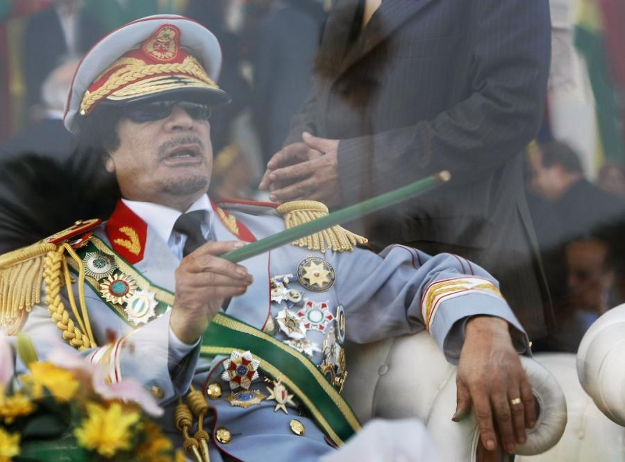 Libijski przywódca Muammar Kadafi