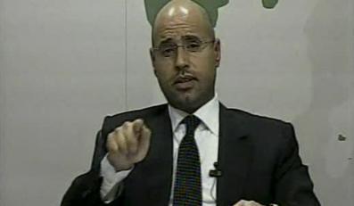 """Syn Kadafiego grozi w telewizji. """"To nie Egipt!"""""""