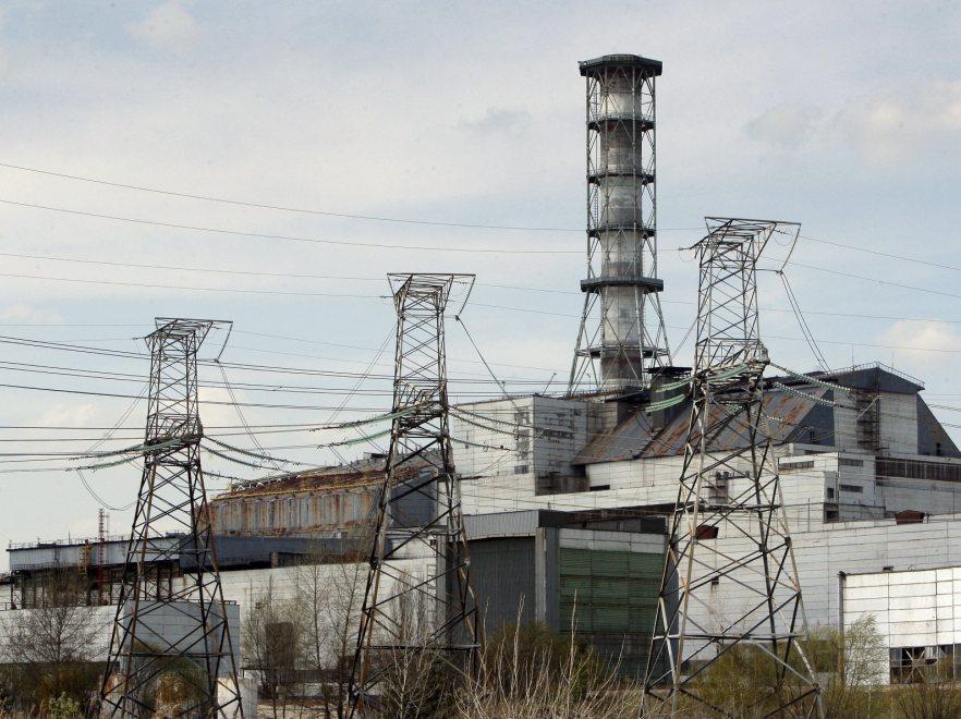 Pozostałości lektrowni jądwowej w Czarnobylu
