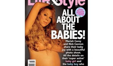 Mariah Carey w ciąży nago na okładce magazynu Life & Style