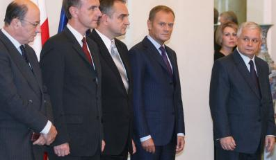 Ministrowie rządu, premier i prezydent Lech Kaczyński