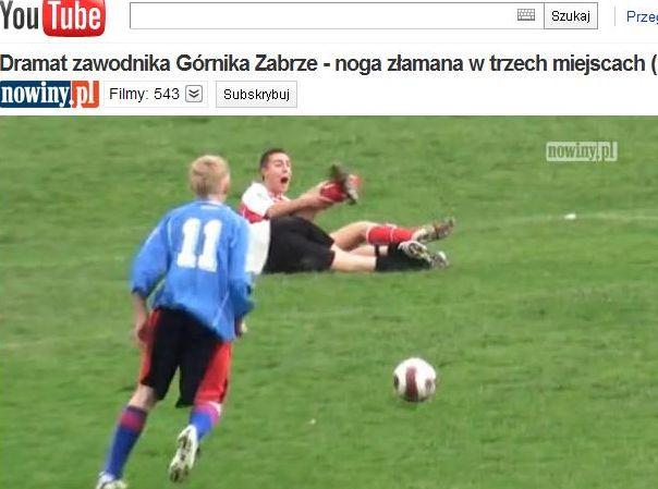 Koszmarna kontuzja piłkarza Górnika
