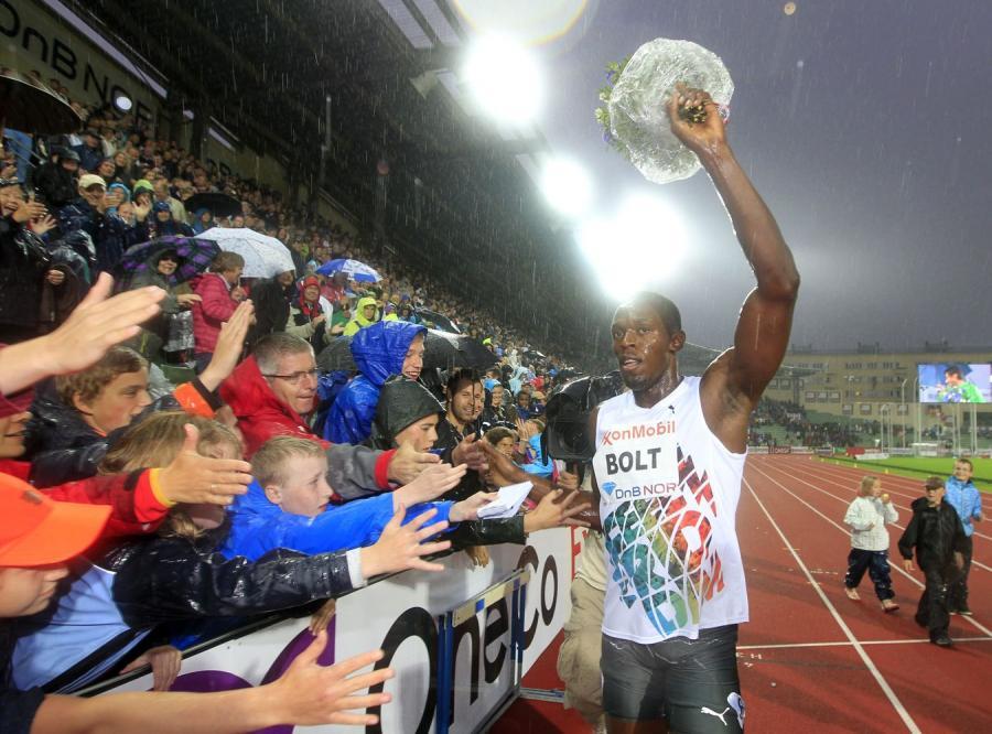 Usain Bolt na mityngu w Oslo
