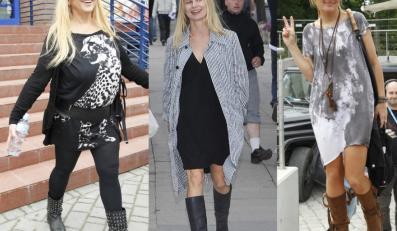 Czego się nie robi dla mody... Żeby wyglądać trendy, gwiazdy są gotowe nawet nosić ciężkie buty w środku lata!