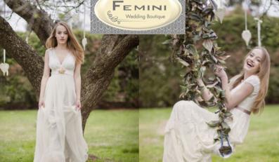 Designerskie suknie ślubne w ekologicznej kolekcji Femini