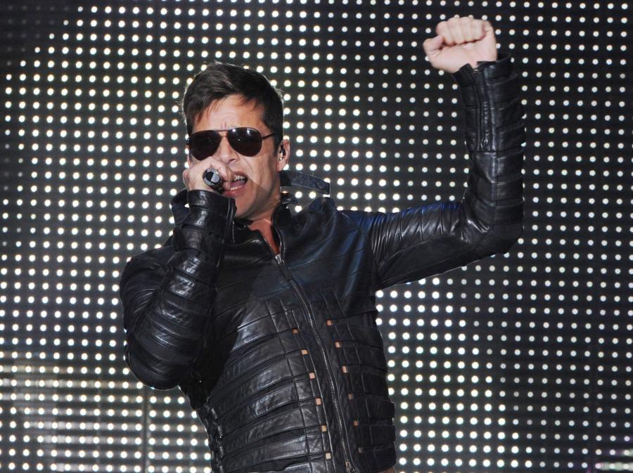 Ricky Martin na festiwalu Arena of Pop w niemieckim Mannheim
