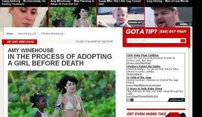 Amy Winehouse chciała adoptowac dziecko