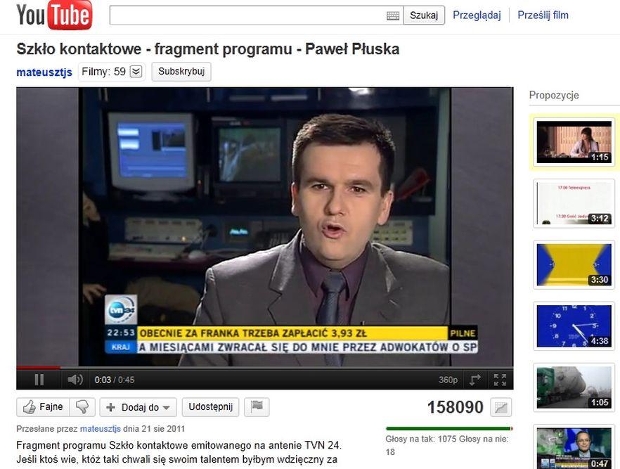 Dziennikarz TVN24 Paweł Płuska naśladuje papieża Jana Pawła II