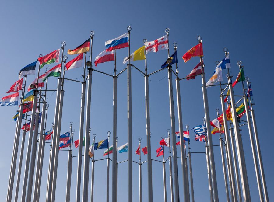 Flagi unijnych państw - zdjęcie ilustracyjne