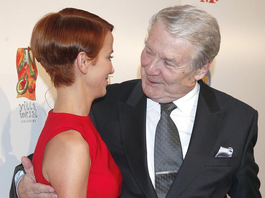 Katarzyna Zielińska i Leonard Pietraszak