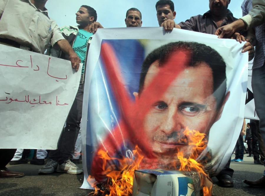 Demonstracja przeciw Baszarowi el-Asadowi