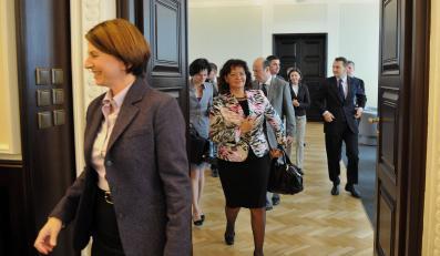 Julia Pitera przed posiedzeniem rządu