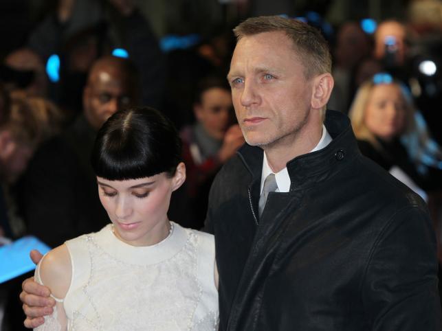 Rooney Mara i Daniel Craig na premierze w Londynie