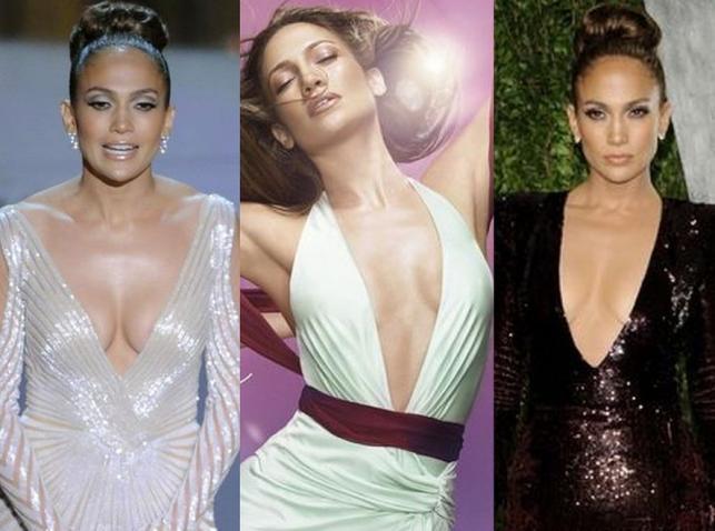 Piersi gwiazdy w pełnej ekspozycji: Jennifer Lopez i jej dekolty