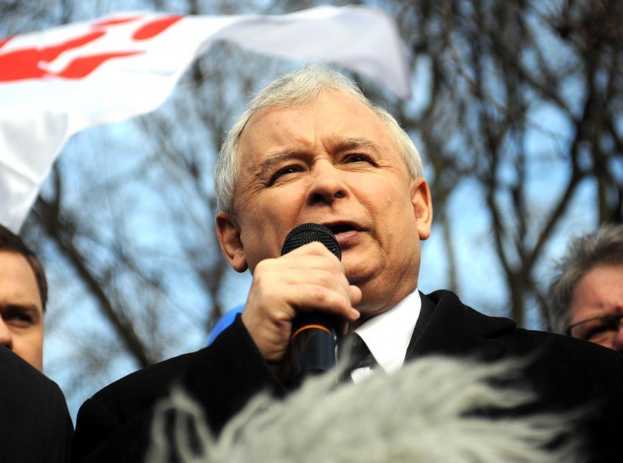 Jarosław Kaczyński na demonstracji