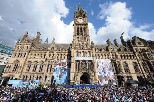 Piłkarze Manchesteru City fetują zdobycie mistrzostwa Anglii
