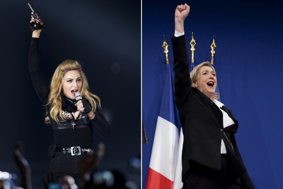 Madonna kontra Marine Le Pen