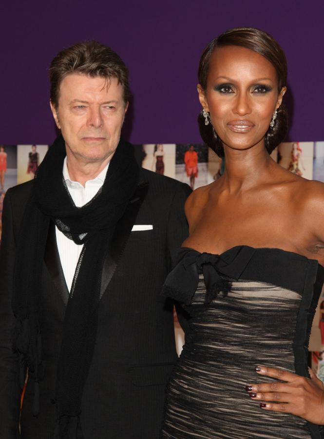 Długodystansowcy w Hollywood - Dawid Bowie z żoną Iman