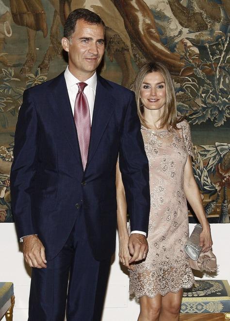 Księżna Letizia i książę Filip