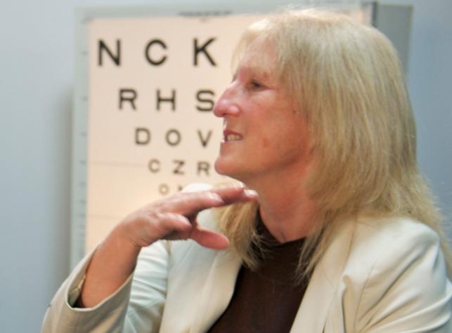 Dianne Ashworth ma sztuczne oko, dzięki któremu widzi