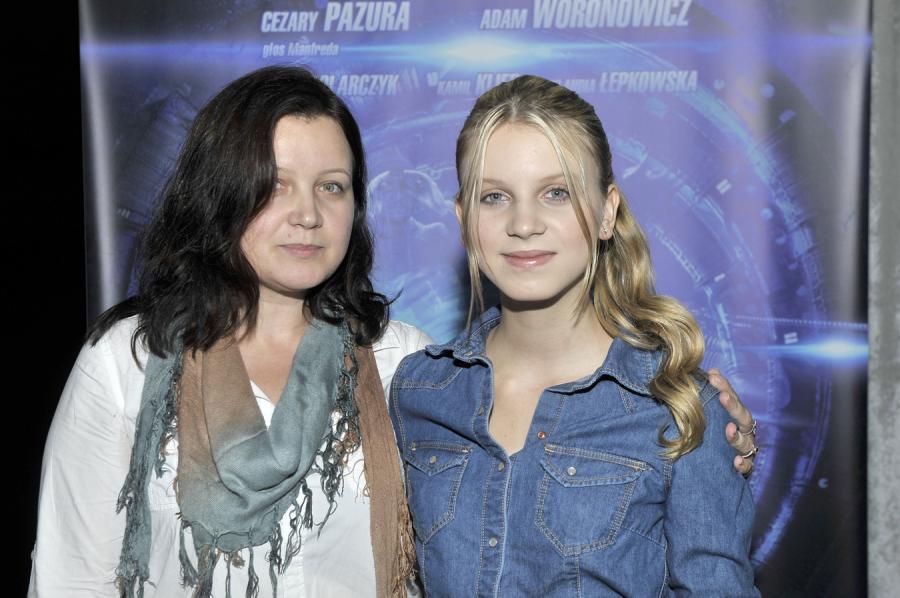Klaudia Kulawik z mamą